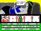 Hollywood Poker ZX Spectrum Time to compare all cards