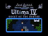 Ultima IV: Quest of the Avatar Apple II Title screen