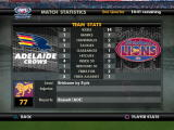 AFL Premiership 2007 PlayStation 2 In-game team stats