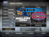 AFL Premiership 2007 PlayStation 2 Single match selection