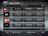 AFL Premiership 2007 PlayStation 2 Team setup