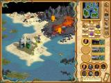 Heroes of Might and Magic IV: The Gathering Storm Windows chaos hero in lava land