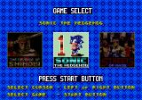 Mega Games 6 Vol. 3 Genesis Game selection: The Revenge of Shinobi, Sonic the Hedgehog and Streets of Rage.
