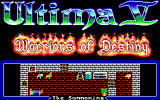 Ultima Collection DOS Ultima V - Title