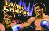 3D World Boxing  Commodore 64 Title