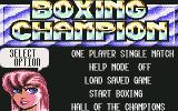 3D World Boxing  Commodore 64 Options