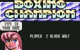3D World Boxing  Commodore 64 Name Entry