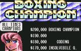 3D World Boxing  Commodore 64 All time champions