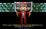 Curse of the Catacombs DOS The intro screen.  Select your difficulty.