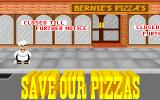 Skunny: Save Our Pizzas! DOS Title screen