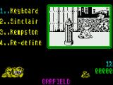 Garfield: Big, Fat, Hairy Deal ZX Spectrum Main menu