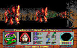 Curse of the Catacombs DOS Even after you kill them, burning tree corpses can damage you if you get too close.
