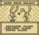 Tiny Toon Adventures: Wacky Sports Game Boy Game Mode Select