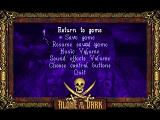Alone in the Dark 2 PlayStation Options menu