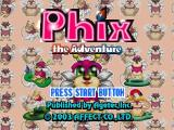 Phix: The Adventure PlayStation Title screen