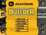 John Deere: American Builder Deluxe Windows Main menu