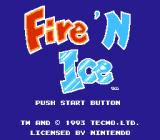 Fire 'n Ice NES Title screen