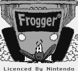 Frogger Game Boy Color Title screen (b/w)