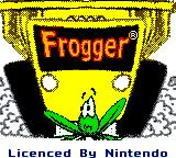 Frogger Game Boy Color Title screen