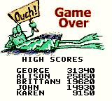 Frogger Game Boy Color Game over