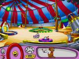 Putt-Putt Joins the Circus Windows Under the Big Top...can you almost smell the popcorn?