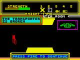 Knight Tyme ZX Spectrum Memo: The transporter is broken. Do not use.