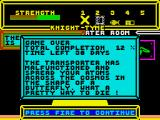 Knight Tyme ZX Spectrum Game over. Next time, read memo first.