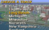 IndyCar Racing DOS Track selection screen - many to choose from!