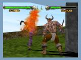 Mace: The Dark Age Nintendo 64 Namira attacks with a flaming kick