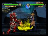 Mace: The Dark Age Nintendo 64 Lord Deimos attacks Taria with a special attack