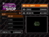 Armored Core: Project Phantasma PlayStation Shop screen - Heads