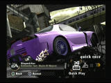 Need for Speed: Most Wanted PlayStation 2 Main Menu - Quick Race