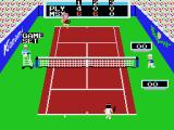 Konami's Tennis MSX Game, set, match