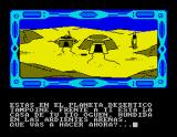 La Guerra de las Vajillas ZX Spectrum The starting point of the adventure