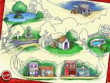 Clifford the Big Red Dog: Thinking Adventures Windows The neighborhood map
