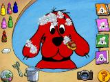 Clifford the Big Red Dog: Thinking Adventures Windows Scrubbing bubbles!