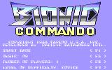 Bionic Commando Commodore 64 Main menu (U.S. version)