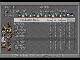 Sid Meier's Civilization II PlayStation The production menu