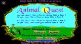 Animal Quest DOS Title screen