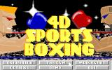 4-D Boxing Amiga The main game options screen