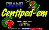 Champ Centiped-em DOS Title screen