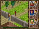 Halls of the Dead: Faery Tale Adventure II DOS Leaving the safety of town...