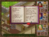 Halls of the Dead: Faery Tale Adventure II DOS Reading a book.