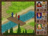 Halls of the Dead: Faery Tale Adventure II DOS Crossing the stream on a bridge...