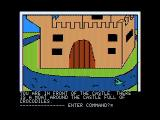 Hi-Res Adventure #2: The Wizard and the Princess Apple II A castle; how can I cross this moat?