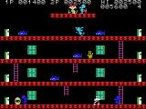 Mouser MSX The cyan mouse throws a pot from the top level
