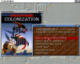 Sid Meier's Colonization Amiga The Start Game Options Screen