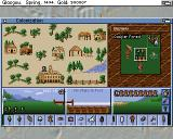 Sid Meier's Colonization Amiga The colony menu allows you to allocate labour, build improvements and train settlers.
