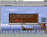 Sid Meier's Colonization Amiga Back in the home port you can trade, recruit and purchase goods, specialists and ships.