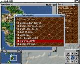 Sid Meier's Colonization Amiga Various game options can be accessed from the pull down menus